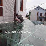 Thi công mái kính cường lực quận Tân Phú