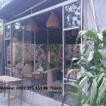 Lắp đặt vách kính quán cafe tại quận Phú Nhuận