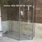 Lắp phòng tắm kính 10ly giá rẻ